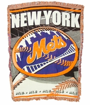 New York Mets Woven Jacquard Tapestry Throw