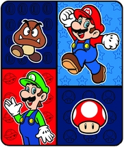 """Super Mario Time To Team Up Throw 50x60"""""""