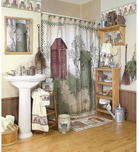 OUTHOUSES  Shower Curtain and Bathroom  Accessories