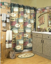 RATHER BE FISHING Shower Curtain, Towels & Accessories