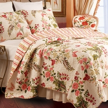 Butterflies Cotton Quilt/Sham Set