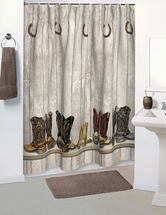 SADDLE UP Shower Curtain  Accessories