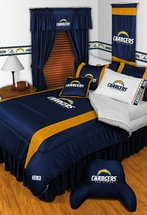 SAN DIEGO CHARGERS  Twin Sheets & Wall Border
