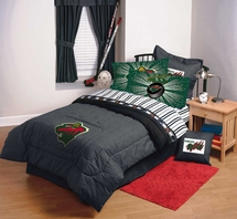 MINNESOTA WILD    NHL Hockey Bedding and Accessories