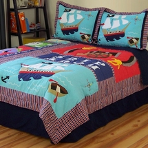 Pirate Treasure Quilted Bedding & Accessories