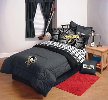 Pittsburgh Penguins Comforter Sheet Set Combo Nhl Bedding