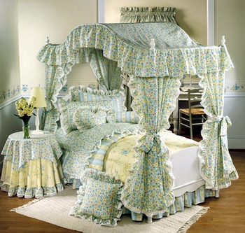 Laurens Linens Flowing Ribbons Kids Bedding Ensemble By