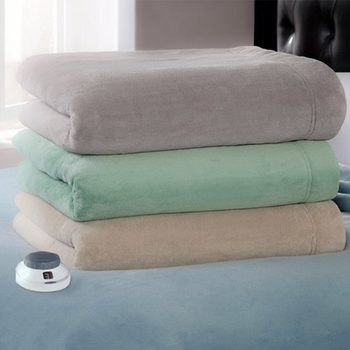Serta Luxe Plush Electric Warming Blanket Featuring Low