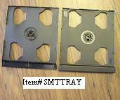 DOUBLE (2) CD SMART TRAY, BLACK, SMTRAY, 200 PCS