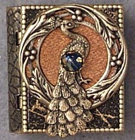 Peacock Circle Storybook Pin or Necklace