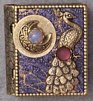 Peacock Moon Storybook Pin or Necklace