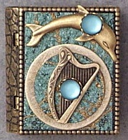 Harp Moon Storybook Pin or Necklace