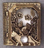 Cat and Vine Storybook Pin or Necklace