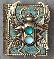 Scarab Storybook Pin or Necklace