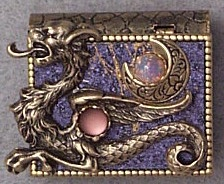 New Moon Dragon Storybook Pin or Necklace