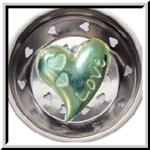 Love Heart Pewter Kitchen Sink Strainer