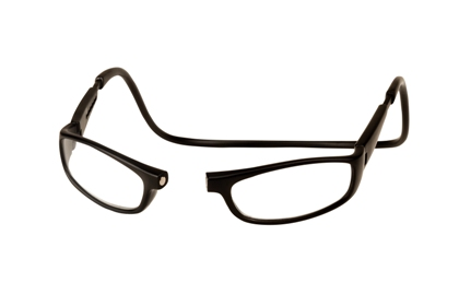 picture of matte black CliC Euro magnetic closure reading glasses