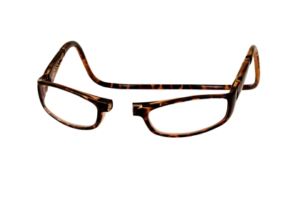 picture of tortoise CliC Euro magnetic reading glasses