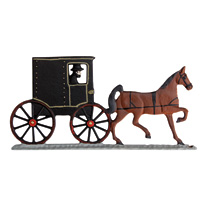 Amish Horse and Buggy Garden Weathervane