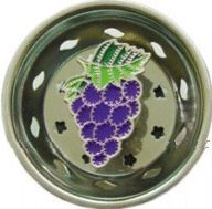 Enamel Kitchen Strainer Purple Grapes