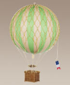 Large Size Green Royal Aero Hot Air Balloon Model