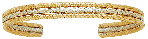 Dream Weaver--Two-Tone Silver and Gold Color Copper Alloy Bracelet