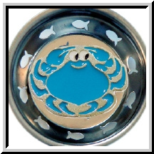 Blue Crab Enamel Kitchen Sink Strainer