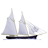 Sailboat Schooner Garden Weathervane