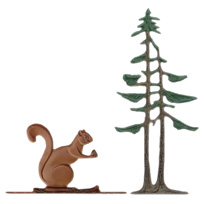Squirrel and Pines Garden Weathervane