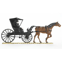 Country Doctor Horse and Buggy Garden Weathervane