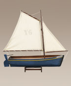 Madeira Sailboat Ship Model Antique Blue, Red, or Honey