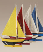Sunset Sailer Sailboat Ship Model Four Colors Available