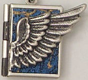 Wings Necklace, Blue