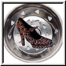 Leopard Print Shoe Kitchen Sink Strainer