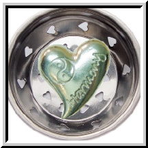 Harmony Yin Yang Heart Pewter Sink Strainer