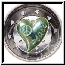 Peace Heart Pewter Sink Strainer