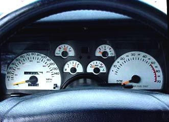 1991 Camaro White Face Gauge Overlay Kit. 140 mph 5.7L V8 - PLEASE READ