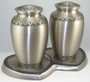 Pewter Double w/Hearts Base (2) Styles Cremation Urn