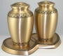 Bronze Double w/Hearts Base (2) Styles Cremation Urn
