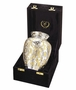 Silver-Gold Classic Cremation Urn - Medium