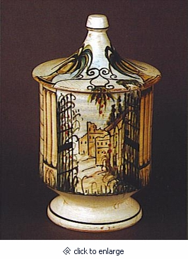 The Garden Italian Porcelain Cremation Urn