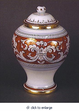 D'Oro Italian Porcelain Cremation Urn