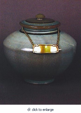 Hudson Hand Thrown Porcelain Cremation Urn