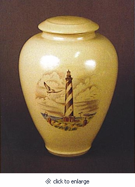 Carolina Lighthouse Handmade Classic Vase Cremation Urn