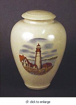 Northern Lighthouse Handmade Classic Vase Cremation Urn