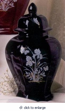 Diamond Black Cremation Urn