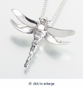Dragonfly cremation jewelry keepsake pendant silver or gold dragonfly keepsake memorial pendant silver or gold cremation jewelry urn aloadofball Gallery