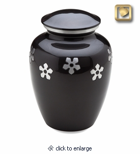 Forget-Me-Not Brass Cremation Urn
