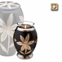 Tealight Candle Lilies Brass Keepsake Cremation Urn
