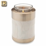 Tealight Candle Tall Simplicity Pearl Brass Keepsake Cremation Urn